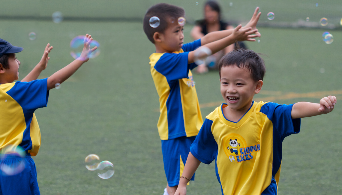 Soccer for under 5yo - Kinder Kicks HK