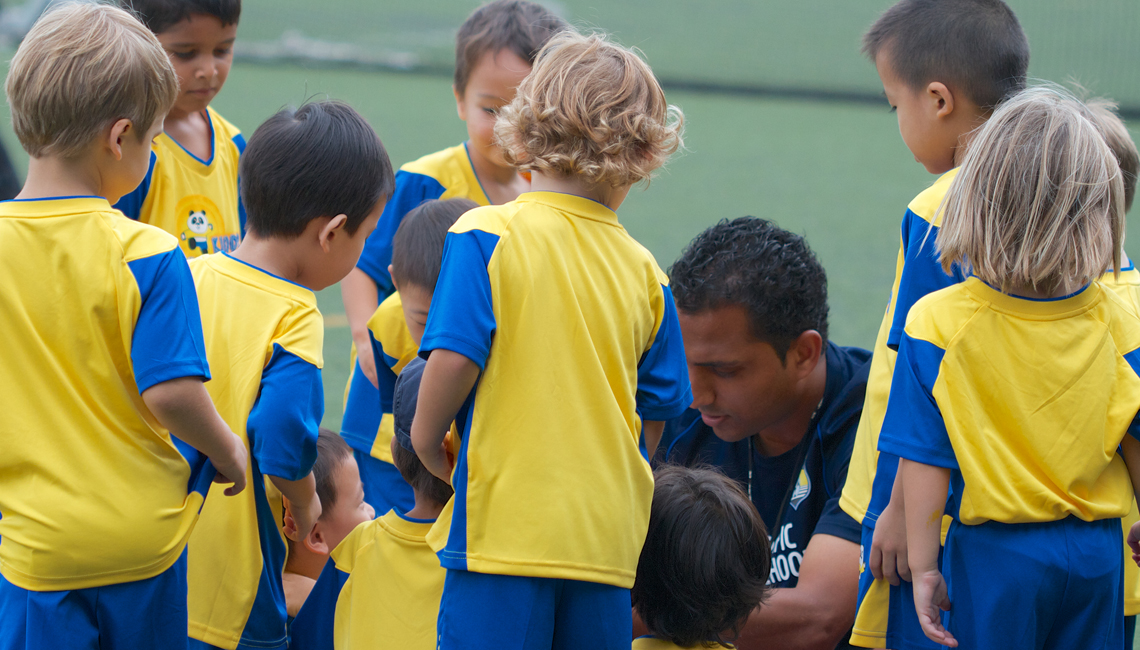 Football classes Kinder Kicks at HKFC, Hong Kong